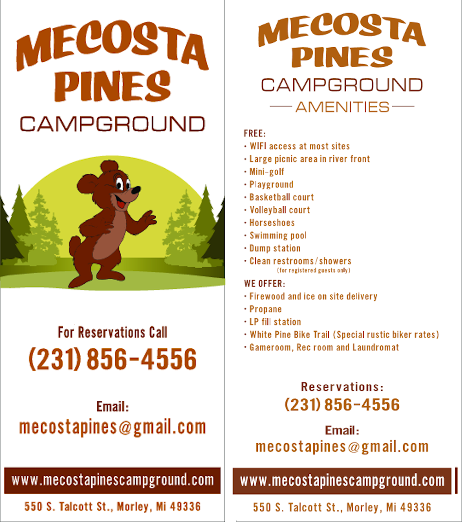 Mecosta Pines Campground Brochure