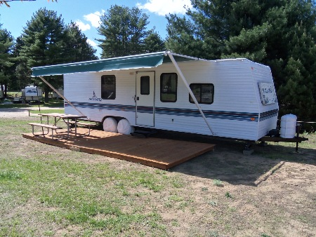 Mecosta Pines Campground Rental Trailer